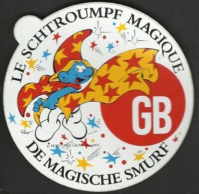 Schtroumpf Smurf Schlümpf ancien sticker autocollant GB