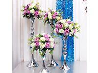 Silver flower centrepieces