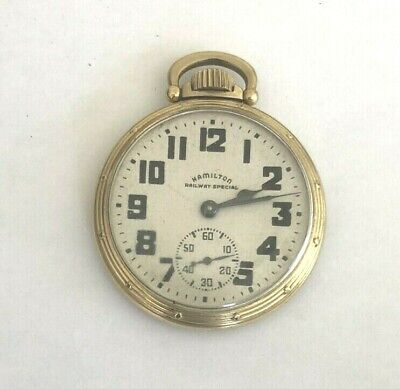 Hamilton Railway Special 21Jewel 10k Gold Filled Pocket Watch