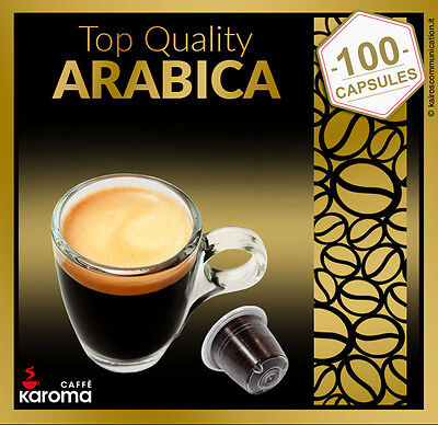 💯Karoma capsules Compatible Nespresso Machines (Arabica) Simply The