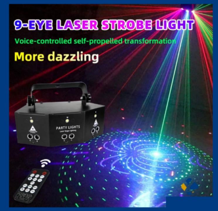 professional new nine eye laser strobe light