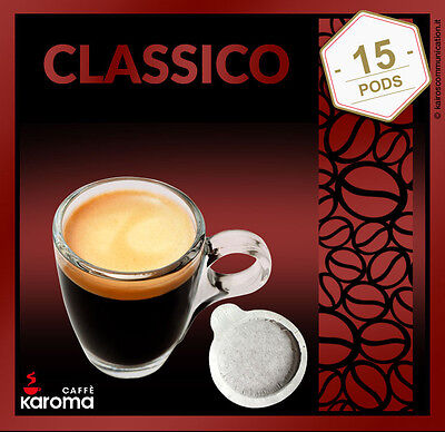- 15 Italian Espresso Pods ESE. Karoma (Napoletano) Strong Blend. 2-3 Day Delivery