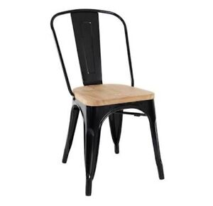 Tolix Replica Chair with Timber Seat (Set of 4) Ringwood North Maroondah Area Preview