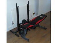 Adjustable Bench, Weights & Weights Support Stand