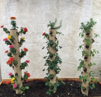 Plant Smart Vertical Garden Grow Tower Hydroponic Aquaponic