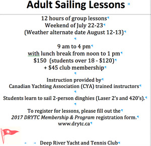 Sailboat - sailing lessons