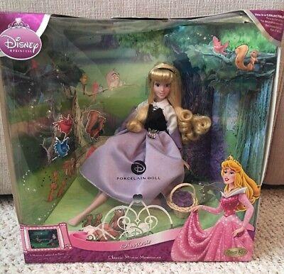Disney AURORA Classic Movie Moments Porcelain Doll Brass Key Sleeping Beauty