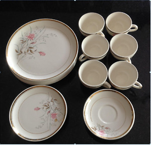 HYCROFT CHINA 22K GOLD PLATING 6 PIECE SET-OVER     70 YEARS OLD