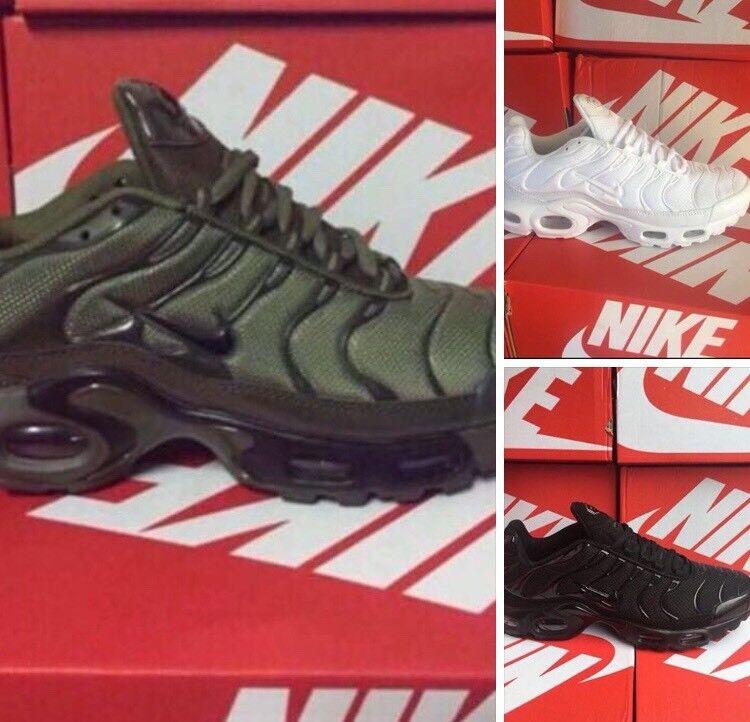 ef249001bdbd16 Nike tns Tn New In Box olive green all black triple white