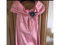 Size 10 Pink Off Shoulder Dress