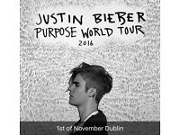 2x Justin Bieber Beside the stage standing tickets Dublin!