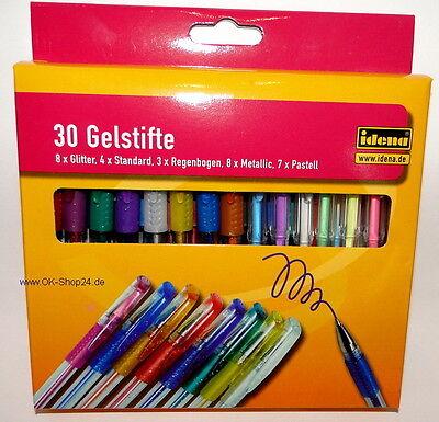 30 Stk. Gelschreiber Gelmalstifte Gelstifte Glitter Metallic Pastell Regenbogen