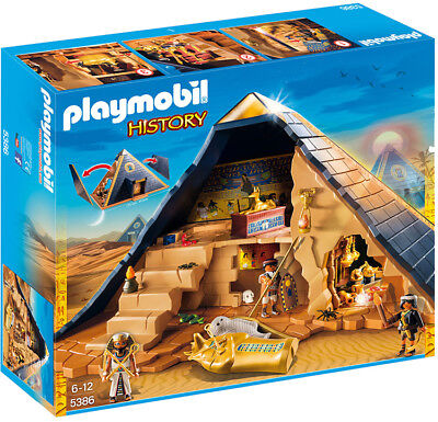 Playmobil History Pharaoh's Pyramid 5386 (for Kids 6 and - Pharaoh Kids