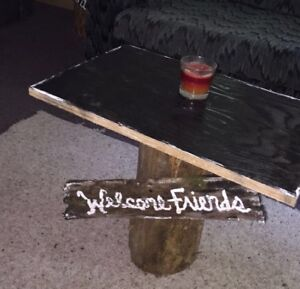 Hand made rustic accent table