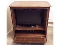 Solid wood TV unit