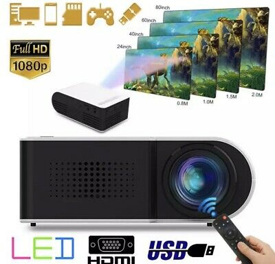 7000 Lumens 1080P Portable Mini Projector HD Home Projector Theater Support 1080