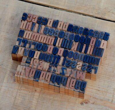 A-z Alphabet 0.55 Letterpress Wooden Printing Blocks Wood Type Vintage Printer