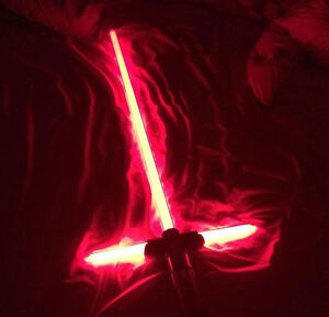 Kylo Ren Force FX lightsaber Has box and wall mount