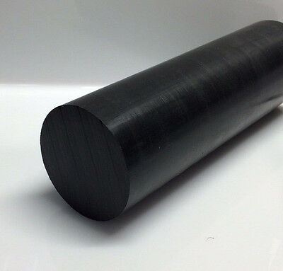 """30706B DELRIN 3//8/"""" DIA 6/"""" LONG ROD BLACK FOR SALE"""