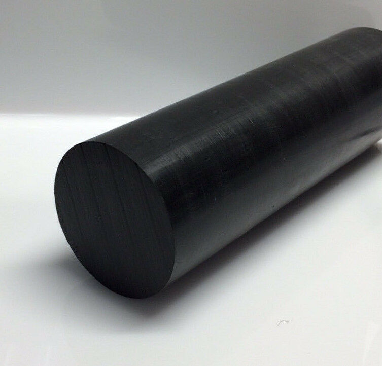 "3/4"" diameter x 1 FT Black Acetal Rod - ""Delrin"""