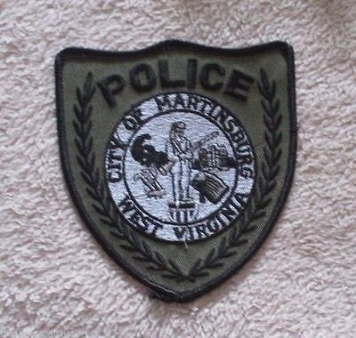 "Martinsburg Police Patch - subdued - West Virginia - 4"" x 4 1/2"""
