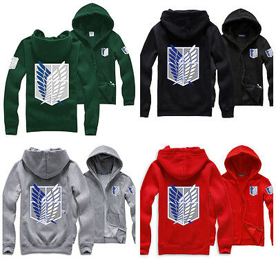 Anime Attack on Titan Shingeki no Kyojin Hoodie Jacke Kostüm Cosplay Karneval