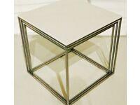 Rare early pk71 nesting table set by Poul Kjaerholm, (E Kold Christensen )1960s steel/acrylic.