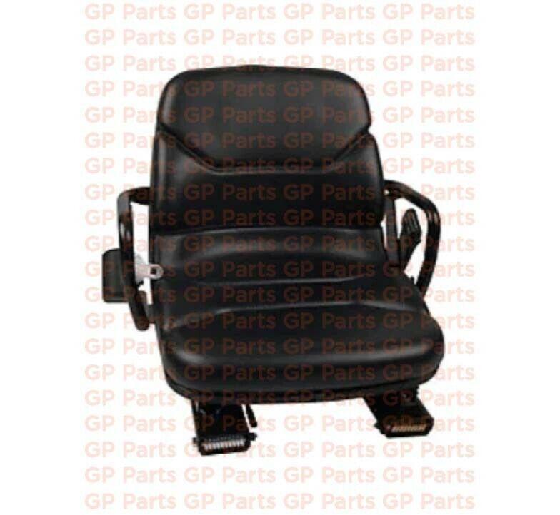 CATERPILLAR 91214-53900,ADJUSTABLE VINYL FORKLIFT SEAT,TILTS,SEATBELT,GC20