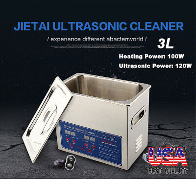 High Quality 3l Ultrasonic Cleaner Stainless Steel Industry Heated Heater Timer