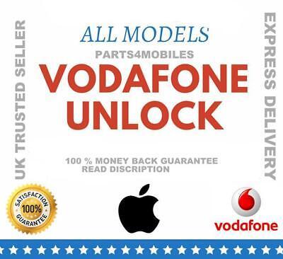 VODAFONE UK FACTORY UNLOCK SERVICE CODE for iPhones 3/4/4s/5/5s/5c/SE/6/6s/7+ UK
