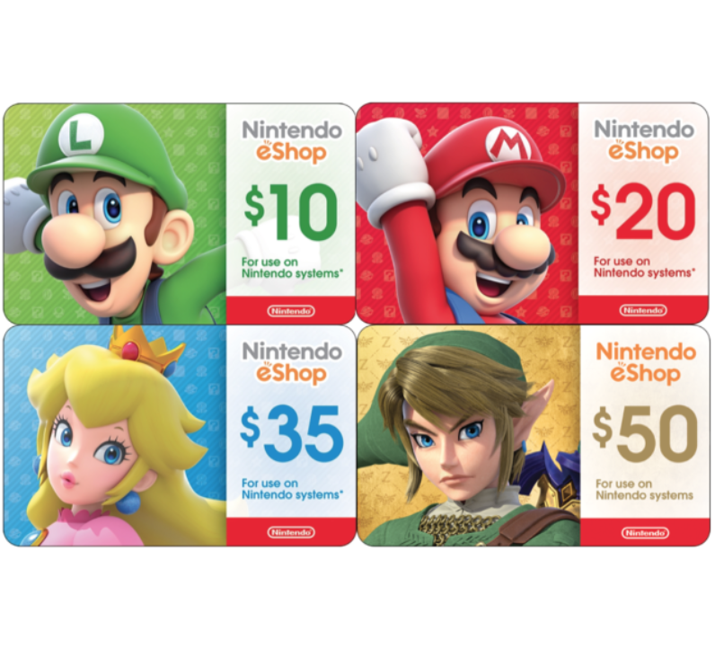 Nintendo eShop Digital Card - $10 $20 $35 $50 - Email delivery