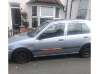 Toyota Starlet Silver Automatic 1996 Car