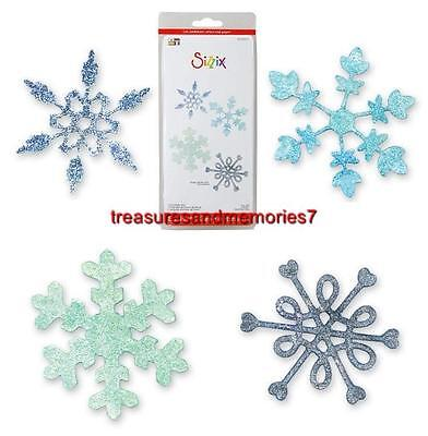 (Sizzix Sizzlits SNOWFLAKE SET RETIRED 4 Dies 654370 Stunningly Beautiful! WINTER)