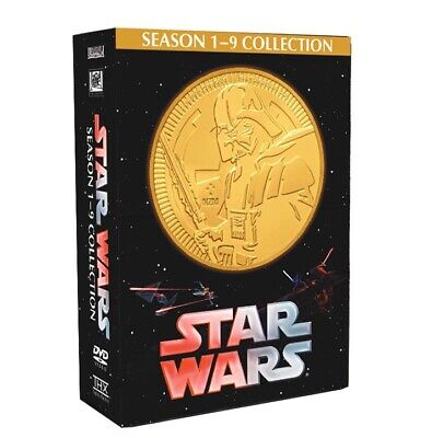 Star Wars 1-9 Collection Saga (DVD 15-Disc Set) ALL 9 MOVIES