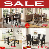 modern height kitchen sets, hatches, tables, dinette sets, chais