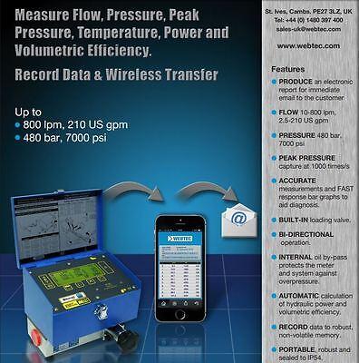 Dhm804-s-7 Webtec Digital Hydraulic Flowmetertester With Bluetooth 0-800lmin