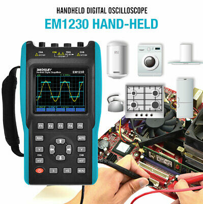 Handheld Lcd Digital Scopemeter Oscilloscope Multimeter 25mhz 100msas 2 Channel