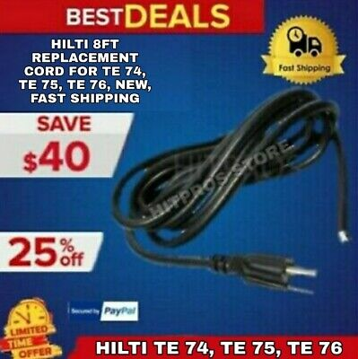 Hilti 8ft Replacement Cord For Te 74 Te 75 Te 76 New Fast Shipping