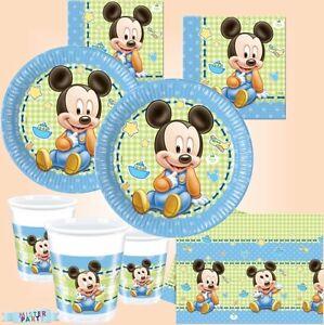 disney mickey mouse baby babyshower kindergeburtstag partydeko babyparty deko. Black Bedroom Furniture Sets. Home Design Ideas