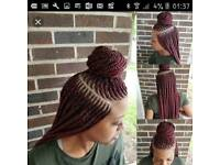 Afro/Caucasian braids (BEDFORDSHIRE,HERTFORDSHIRE,LUTON SORROUNDINGS)