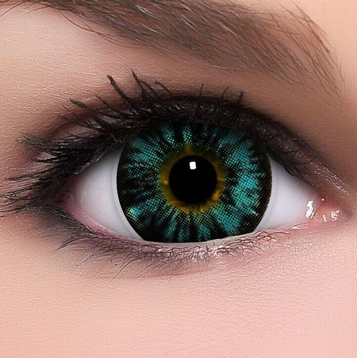 BigEyes Circle Lenses Blau Nuddy Blue Kontaktlinsen GRATIS Behälter