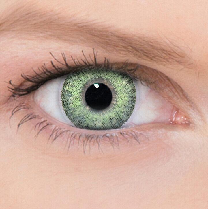 Grüne Farbige Kontaktlinsen Pure Hazel ohne und mit Stärke 3Tones + Behälter