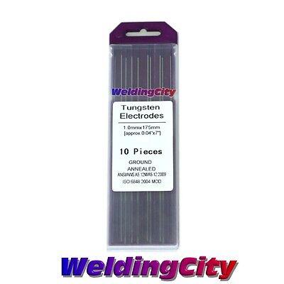 10-pk Tig Welding Tungsten Tri-element Non-radioactive Purple .040x7 Us Seller