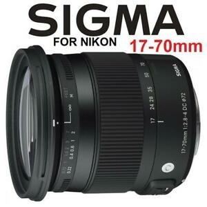 NEW SIGMA 17-70mm LENS FOR NIKON 243998115 F2.8-4 DC MACRO ZOOM PHOTOGRAPHY