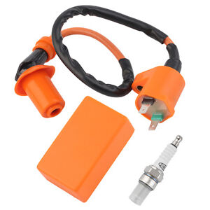 Racing Performance CDI+ Ignition Coil + Spark Plug Fit Gy6 50cc 125cc 150cc CU