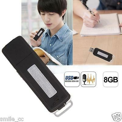 8GB Mini USB Disk Pen Flash Drive Digital Audio Voice Recorder 150 hrs Recording