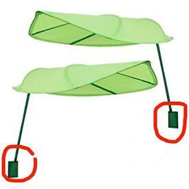2 Ikea Lova Leaf Bed Canopies Free - no wall fixtures