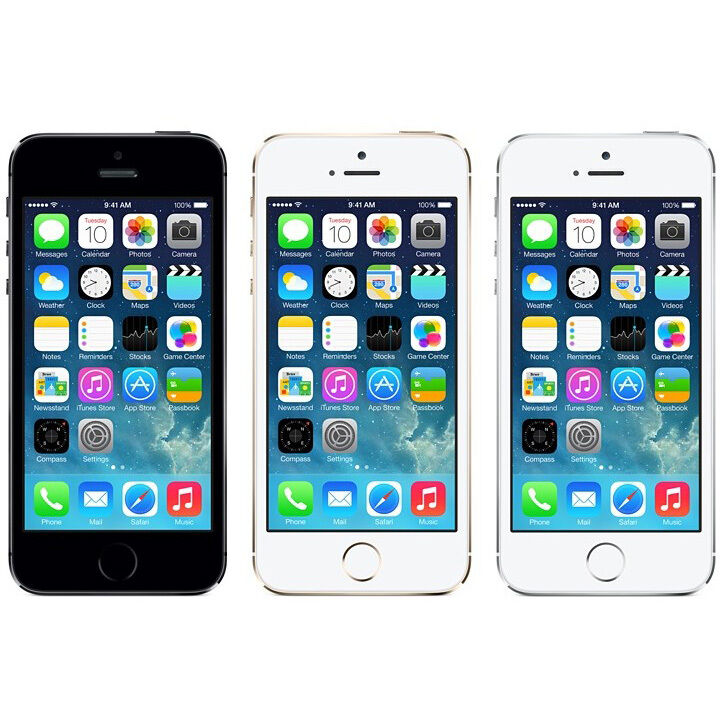 NEW NEW APPLE IPHONE 5S 16GB 32GB GOLD SILVER GREY SMARTPHONE FACTORY UNLOCKED
