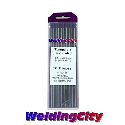 10-pk Tig Welding Tungsten Tri-element Non-radioactive Purple 18x7 Us Seller