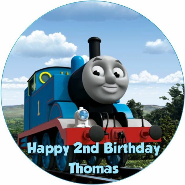 Personalised 19cm Thomas The Tank Engine Edible Wafer Paper Cake Topper